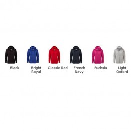 Blank Contrast Authentic zipped hooded sweat  Blank Fruit of the loom 280 GSM Hoodie